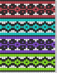 Поговорим... - Жаккард Bead Crochet Patterns, Crochet Chart, Diy Crochet, Crochet Designs, Motif Fair Isle, Fair Isle Chart, Fair Isle Pattern, Knitting Charts, Knitting Patterns
