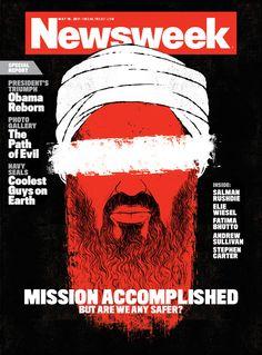 Bin Laden cover for Newsweek | Edel Rodriguez