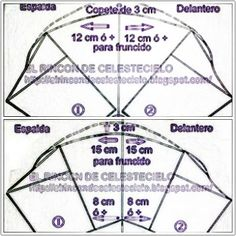 Patrones para otros tipos de mangas fruncidas - El Rincon De Celestecielo