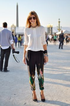 transitional... love the trousers.