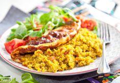 Omlet na szybki obiad to świetny pomysł! Quinotto Intenson świetnie sprawdza się jako farsz Fried Rice, Fries, Ethnic Recipes, Food, Diet, Essen, Meals, Nasi Goreng, Yemek