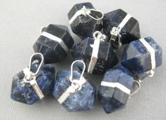 Sodalite Petite Double Terminated Pendant with by jewelersparadise, $14.95