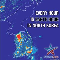 Every hour is earth hour in North Korea