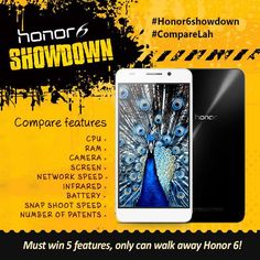 Honor 6 smartphones to be won on its