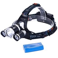 Binwo 5000 Lumen LED Headlamp Headlight Flashlight Torch Cree T6 for Camping, Running, Hiking, Fishing, Reading, Hands-free Helmet Work Light, Water-resistant Headlight with Rechargeable Batteries *** Learn more by visiting the image link.