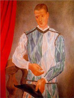 Harlequin, 1917 - Pablo Picasso (Spanish, 1881-1973) Cubist Period