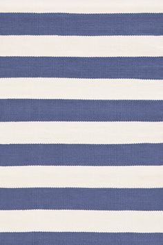 Indoor/Outdoor Catamaran Blue & White Striped Outdoor Area Rug