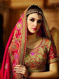 Pink Classic Designer Satin Chiffon Saree ,Indian Dresses - 2