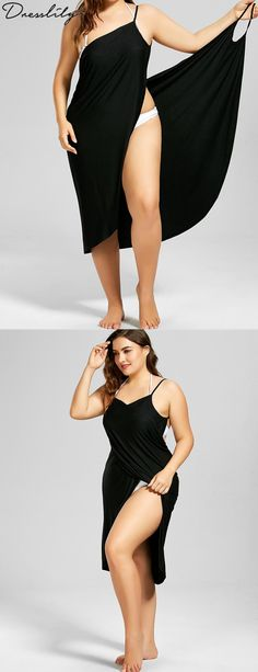 Plus Size Beach Cover-up Wrap Dress.Extra off Beach Outfits, Plus Size Beach Cover-up Wrap Dress. Plus Size Bikini Bottoms, Women's Plus Size Swimwear, Curvy Swimwear, Trendy Swimwear, Beach Outfit Plus Size, Plus Size Strand, Plus Size Cover Up, Formal Casual, Moda Feminina Plus Size