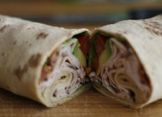 Quick, easy, simple to make, great to take to work for lunch!   California Turkey Club Wrap!