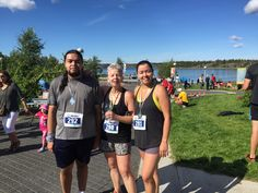My children and I after running the Yellowknife Half-Marathon, August, 2015.