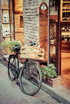 Toscana, Italy...this is the way to go wine shopping!