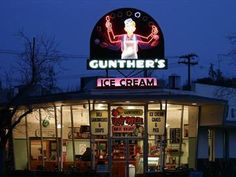 Gunther's Ice Cream in Sacramento, CA is the best! I wish I could have a double scoop of butter brickle right now....