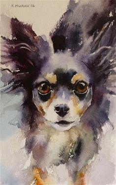 "Daily Paintworks - ""adopt201 - Ella Bella"" - Original Fine Art for Sale - © Katya Minkina"
