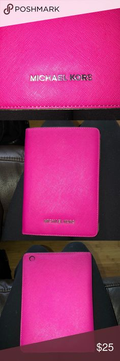 Michael Kors Mini Ipad case!! hot pink michael kors ipad mini case, never used, doesn't come with tags but 100% authentic and super soft material on the inside!!!💘 Michael Kors Accessories Laptop Cases