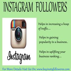#Instagram is the fastest growing #socialmediasite which helps in increasing the #ranking of the #site in the search list of the entire search engines. You can get #InstagramFollowersservice easily from the #onlinemarket to #boost up your #position.