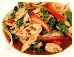 Pad Kra Pow  chilli basil chicken (thai)