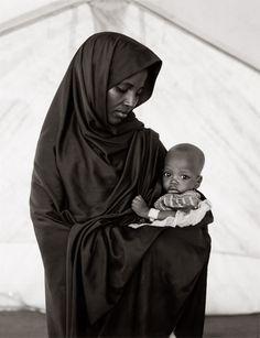 Fazal Sheikh - A Camel for the Son. Africa   Abdia Abdi Khalil and her son Hameed, Somali refugee camp, Mandera, Kenya, 1992   ©Fazal Sheikh