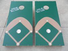 Baseball Cornhole Boards