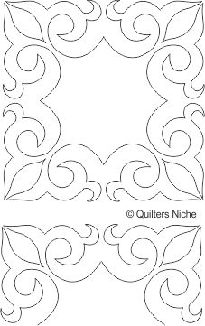 SCF-281 Scroll Frame quilting design