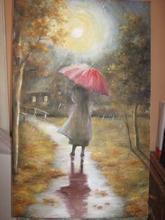 Spacer w deszczu Agnieszka Błachuta