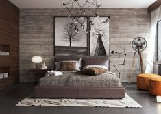 17 Timeless Rustic Bedroom Designs That Never Go Out Of Style Rustic style is a popular interior design direction that can be very diverse and interesting and can be very well combined with other styles. This style Home Decor Bedroom, Modern Rustic Bedrooms, Master Suite Bedroom, Rustic Bedroom Design, Bedroom Decor, Mens Bedroom, Masculine Bedroom, Bedroom Design, Home Decor