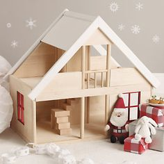 Wooden Dolls House from Bajo Toymakers Wooden Dollhouse, Wooden Dolls, Little White Company, House In The Woods, Cosy, Kids Room, Toddler Bed, Doll Houses, Christmas