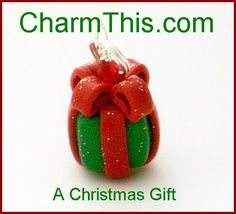 Polymer Clay  Christmas Present Charm by CharmthisClayCharms, $3.00
