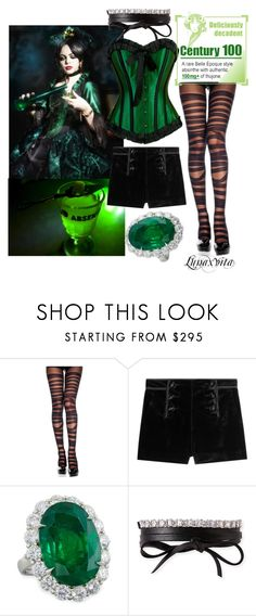 """""""Absinthe"""" by lunaxvita ❤ liked on Polyvore featuring Emilio Pucci, Diana M. Jewels and Fallon"""
