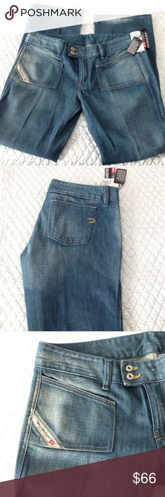 90661407 Diesel industry Hush DS size 32×30 Gorgeous form fitting Diesel boot cut  style distressed