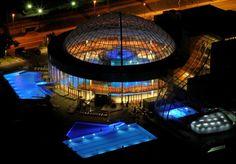 Night swimming at the Thermana Lasko spa