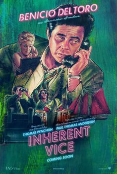 New Character Poster for Inherent Vice Featuring Benicio Del Toro