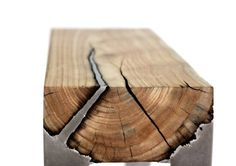 """Love the way she melded metal and wood.  Cool...Wood-cast"""" furniture by Hilla Shamia"""