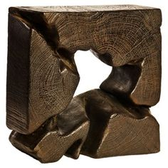 Check out this item at One Kings Lane! Abstract Teak Objet, Dark Brown
