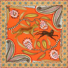 70 x 70 cm scarf Hermès   The Savana Dance