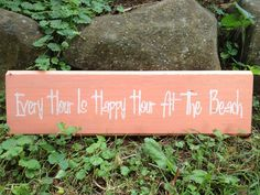 Rustic Distressed Quote Every Hour is HAPPY by CottageOnRabbitHill, $14.99