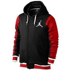 Jordan The Varsity Hoodie 2.0 - Men's - Basketball - Clothing - Black/Gym Red/White