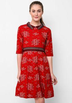 Batik Solo Mini Dress Pleat I