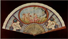 Vintage Fan: 18th Century Italian c1760 - Sea Nymphs, gouache on skin, horn stick finely pique in gold, panaches with crown and fleur de lys of France by CharmaineZoe, via Flickr