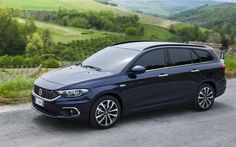 wagons, road, 2016, Fiat Tipo, Station Wagon, blue fiat
