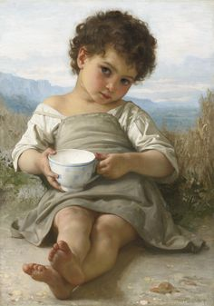 William Bouguereau 1879 Cup of Milk (aka LA TASSE DE LAIT)   Was in a private collection in California was sold by Sotheby's for $926,500.