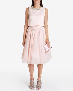 Embellished tutu skirt - Pale Pink | Skirts | Ted Baker FR