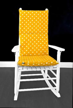Gold Yellow Polka Dots Rocking Chair Cover, Kids Nursery Room Covers And Inserts | affordable, designer, custom, handmade, trendy, fashionable, locally made, high quality Rocking Chair Covers, Rocking Chair Cushions, Ikea Kids Room, Chair Cushion Covers, Gold Cushions, Kids Room Organization, Office Seating, Kids Room Design, Slipcovers For Chairs