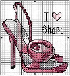 Обувь вышивки крестом