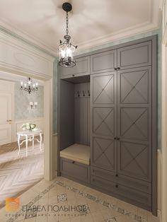 "Photo interior hallway from the project ""Design t . Bedroom Closet Design, Small Room Bedroom, Interior Design Living Room, Living Room Decor, Home Entrance Decor, Entryway Decor, Home Decor, Mudroom Cabinets, Hallway Designs"