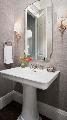 Small pedestal sinks for powder room sink bathroom ideas with designs best si . pedestal sinks by standard small sink with storage bathroom category . Charcoal Bathroom, White Bathroom, Wall Paper Bathroom, Mosaic Bathroom, Silver Bathroom, Bathroom Bin, Wooden Bathroom, Glass Bathroom, Downstairs Bathroom
