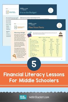 Teaching our kids to be money confident is so important. That's why we love these five financial literacy lessons for middle schoolers. Teaching Money, Student Teaching, Teaching Kids, Math Teacher, Math Classroom, Middle Schoolers, Financial Literacy, Lessons For Kids, Life Skills