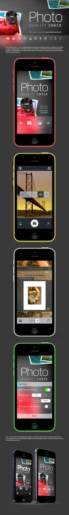 Photo Quality Check v. 1.1 for iOS 7 Ui redesign