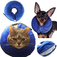 AnnaEye ProCollar Pet E-Collar for Dogs and Cats - Comfortable Recovery Collar is Inflatable and Does Not Block Vision ** For more information, visit image link.