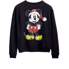 Mickey Mouse Xmas Sweater (€17) ❤ liked on Polyvore featuring tops, sweaters, shirts, black, mickey mouse sweater, christmas sweater, mickey mouse christmas sweater, mickey mouse tops and mickey mouse shirt